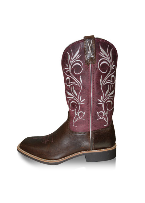 Twisted X Women's Top Hand Western Boots in Chocolate and Brown (TCWTH0010)