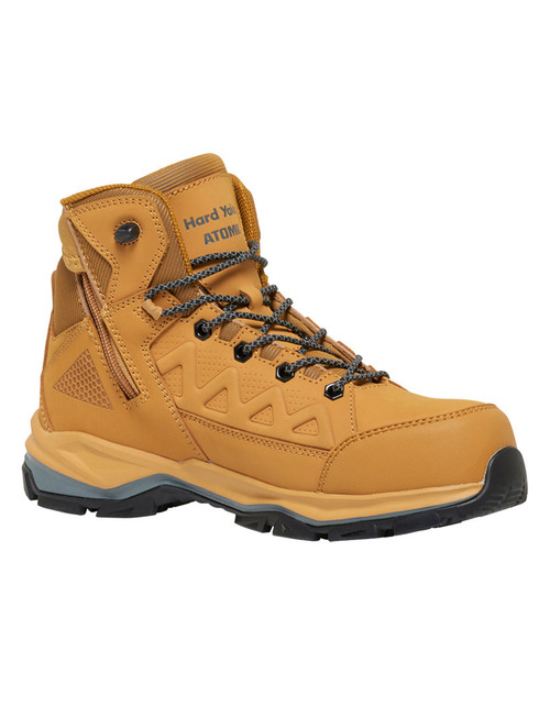 Hard Yakka Atomic Hybrid Zip Sided Lightweight Safety Hiker in Wheat (Y60280 Wheat)