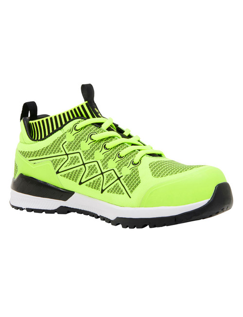 KingGee Vapour Knit Lightweight Composite Toe Safety Shoes in Fluro Yellow (K26545)