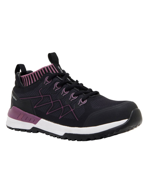 KingGee Women's Vapour Knit Lightweight Composite Toe Safety Shoes in Blackberry (K26555)
