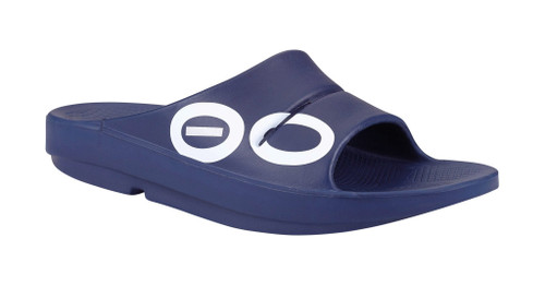 Oofos Ooahh Sports Slides Navy (1500NVY)