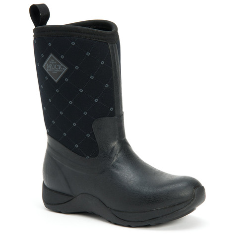 Muck Boots Arctic Weekend Womens Insulated Waterproof Slip Resistant Winter Boots in Black Quilt (SAWQ-000)