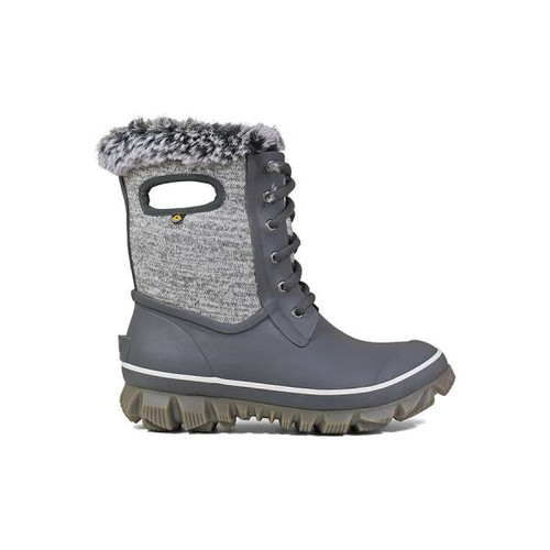 BOGS Arcata Knit Fur Lined Insulated Waterproof Boots in Grey Multi (972404-049)