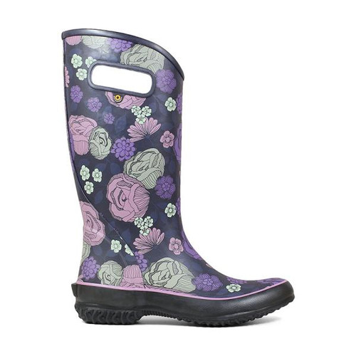 BOGS Rainboot Le Jardin Women's Soft Natural Rubber Gumboots in Purple Multi (972437-545)