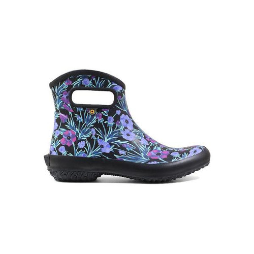 BOGS Patch Ankle Boot Waterproof Gumboots in Black Multi (972519-011)
