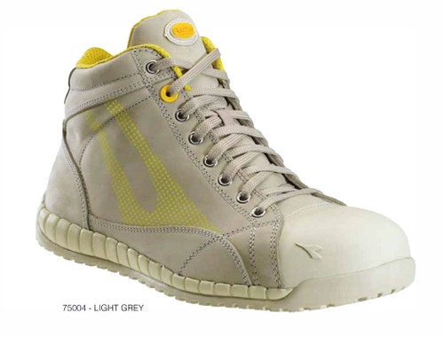 Diadora Utility Hi Speedy S3 Safety Shoes with Toe Cap, Light Grey