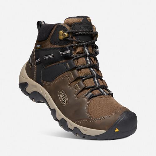 Keen Steens Mid WP Waterproof Men's Hiking Boots in Canteen Black (1022327)