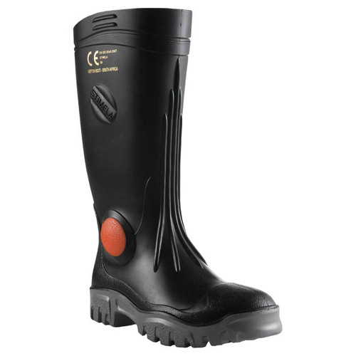 Stimela Superintendant Steel Toe and Midsole Gumboots in Black (FWG903)