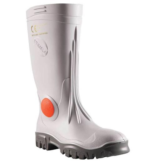 Stimela Executive Steel Toe Gumboots in White (FWG901)