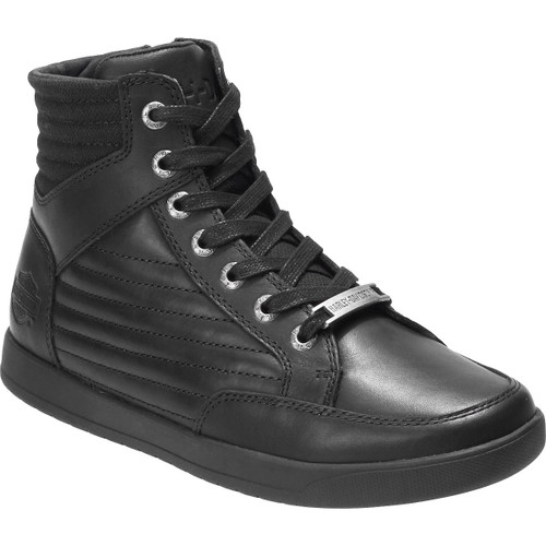 Harley Davidson Bridges Riding Sneaker in Black Leather (D93629 Black)