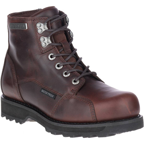 Harley Davidson Dorington Zip Sided Riding Boots in Brown Leather (D93638 Brown)