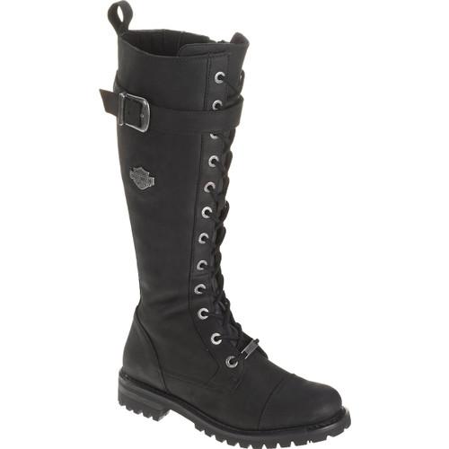 Harley Davidson Savannah Women's Full Grain Leather Riding Boots in Black (D81489 Black)