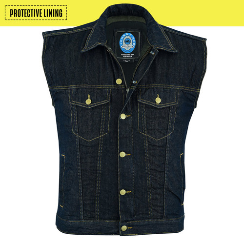 Johnny Reb Glenbrook Ink Denim Vest with Kevlar® Lining (JRV10028)