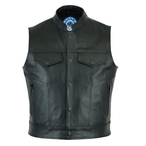 Johnny Reb Pacific Black Leather Vest (JRV10013)