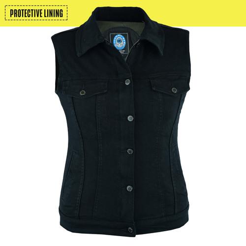 Johnny Reb Glenbrook Women's Protective Black Demin Vest (JRV10029)