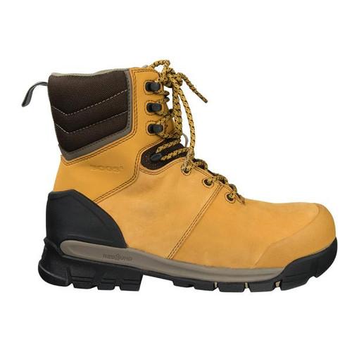 BOGS Pillar 8 Men's Waterproof Composite Safety Toe Zip Sided Work Boots in Camel (978763 – 220)