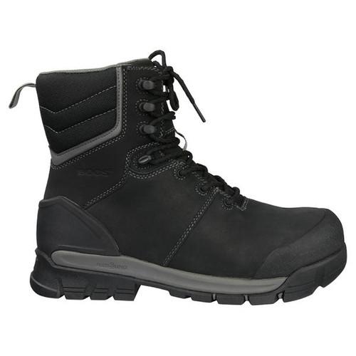 BOGS Pillar 8 Men's Waterproof Composite Safety Toe Zip Sided Work Boots in Black (978763 – 001)