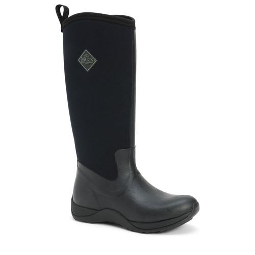 Muck Boots Arctic Adventure Womens Fleecy Lined Insulated Waterproof Slip Resistant Winter Boots in Black (SWAA-000)
