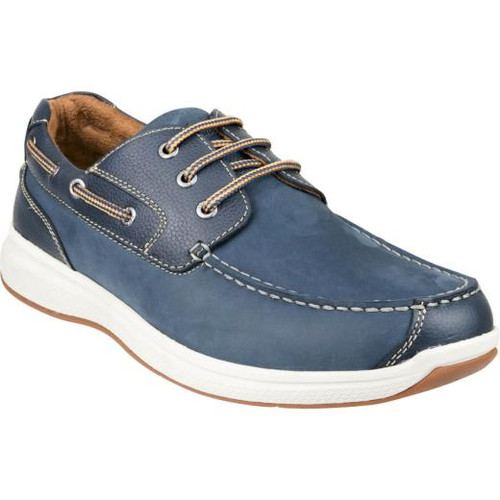 Florsheim Great Lakes Moc Toe Derby Shoe in Navy Leather (171312-410)