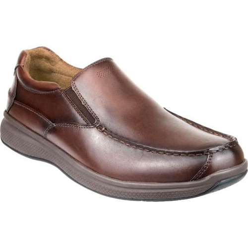 Florsheim Great Lakes Moc Toe Slip On Shoe in Redwood Leather (181091-217)