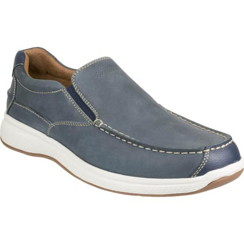Florsheim Great Lakes Moc Toe Slip On Shoe in Navy Leather (181091-410)