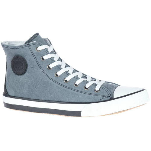 Harley Davidson Filkens High Top Leather Riding Sneaker in Grey (D93674 Grey)
