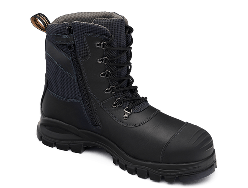 Blundstone 982 Zip Sided Steel Cap Chemical Resistant Safety Boots (982)
