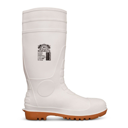 King's White Steel Toe Safety Gumboots (10-110)