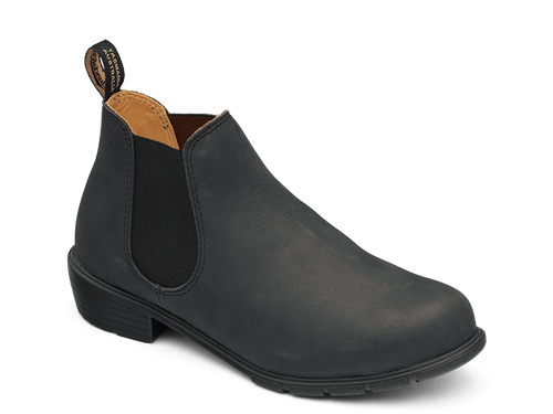 Blundstone 1971 Women's Casual Heeled Leather Boots in Rustic Black (1971)