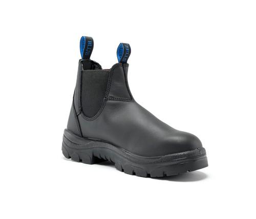 Steel Blue Hobart Nitrile Elastic Side Steel Cap Work Boots Black (322101)