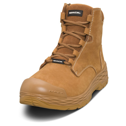 Mack Boots Force Steel Toe Zip Sided Safety Work Boots Honey (MK0FORCEZ-HON)