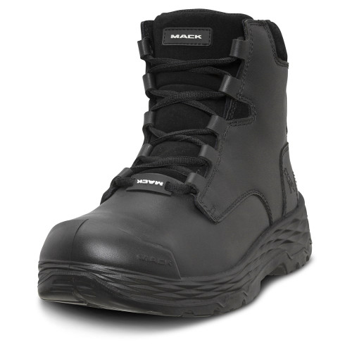 Mack Boots Force Steel Toe Zip Sided Safety Work Boots Black (MK0FORCEZ-BLK)
