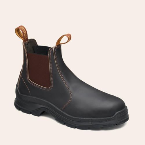Blundstone 400 Brown waxy leather elastic sided soft toe boot (400)