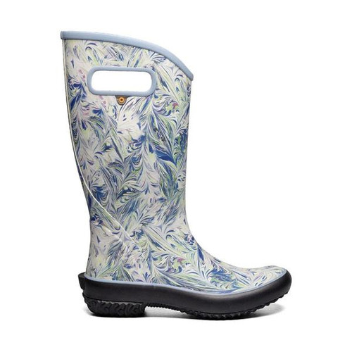 BOGS Rainboot Marble Women's Soft Natural Rubber Gumboots in Blue Multi (972647-423)