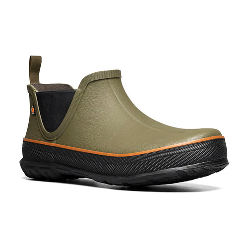 Angle View BOGS Digger Slip On Mens Insulated Waterproof Boots in Olive (972667-303)
