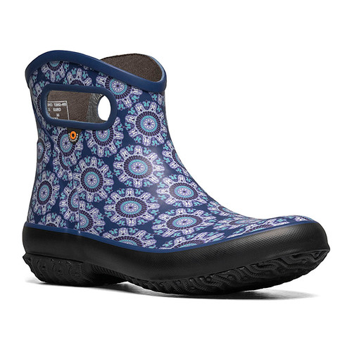 BOGS Patch Boot Juned Waterproof Gumboots in Blue Multi (972682-423)