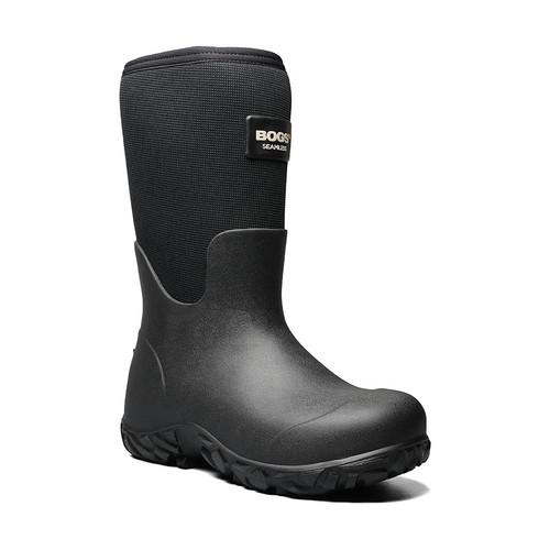 BOGS Workman High Abrasion Lightweight Insulated Work Boots Gumboots in Black (972132-001)