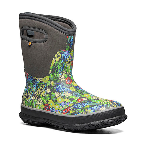 BOGS Classic Mid Midnight Garden - Gumboots in Grey and Multi (972654-049)
