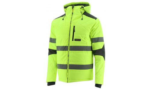 Cat Workwear Hi-Vis Boreas Taped Insulated Jacket in Hi-Vis Yellow (1310114-12130)
