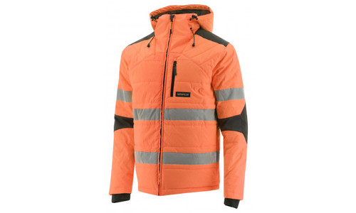 Cat Workwear Hi-Vis Boreas Taped Insulated Jacket in Hi-Vis Orange (1310114-12131)