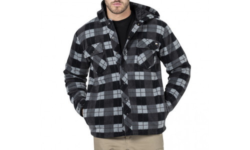 Cat Workwear Active Work Jacket in Black Watch Plaid (1313058-92E)