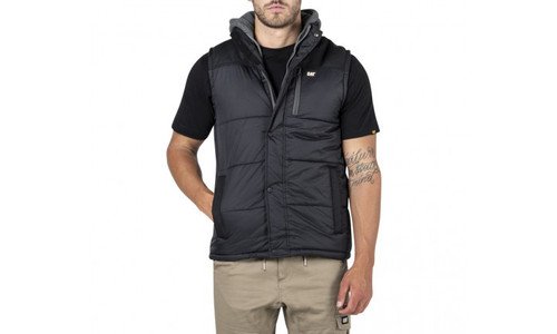 Cat Workwear Hooded Work Vest in Black (1320008-016)