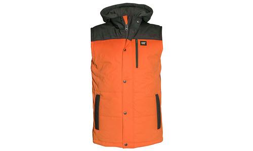 Cat Workwear Hi-Vis Orange Hooded Work Vest (1320034-65O)