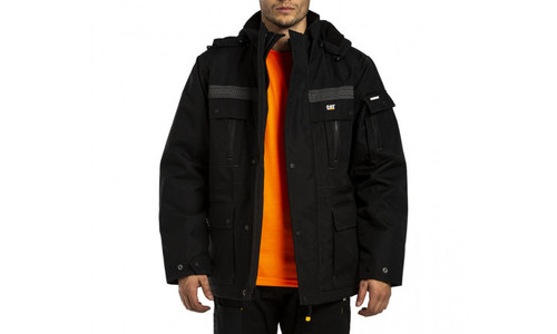Cat Workwear Heavy Insulated Parka in Black (PW11432-010)