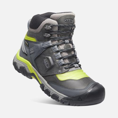 Angle Keen Ridge Flex Mid WP Waterproof Men's Hiking Shoes in Steel Grey Evening Primrose (1024912)