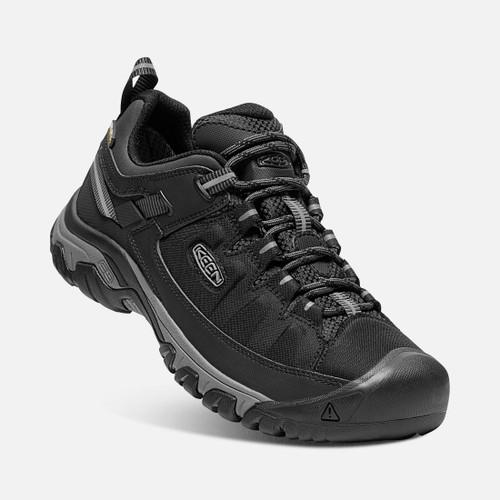 Angle View Keen Targhee Exp Waterproof Hiking Shoes in Black Black (1017721)