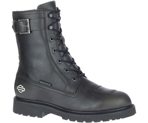 "Harley Davidson Brosner 8"" Waterproof Full Grain Leather Boots in Black (D93700 Black)"