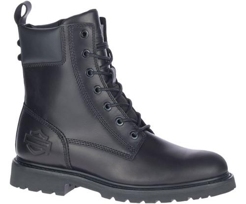 "Harley Davidson Beason 7"" Waterproof Full Grain Leather Boots in Black (D93708 Black)"
