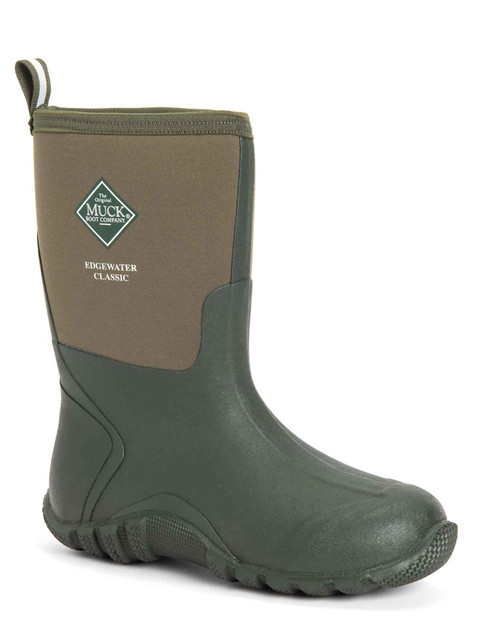 Muck Boots Edgewater Classic Mid Height Insulated Waterproof Boots in Moss (SECM-300)
