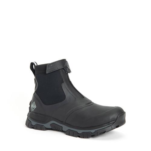 Muck Boots Men's Apex Mid Zip Insulated Waterproof Boots in Black (SAXMZ-000)
